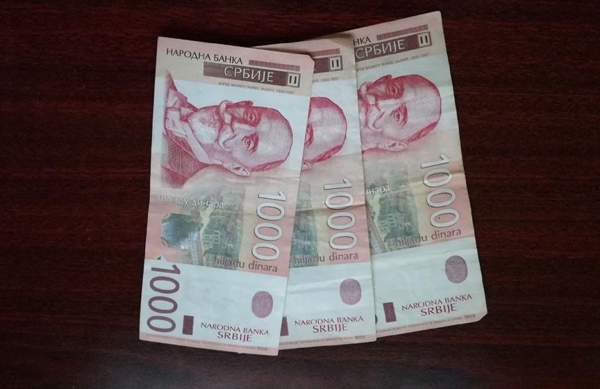 isplata 3000 dinara