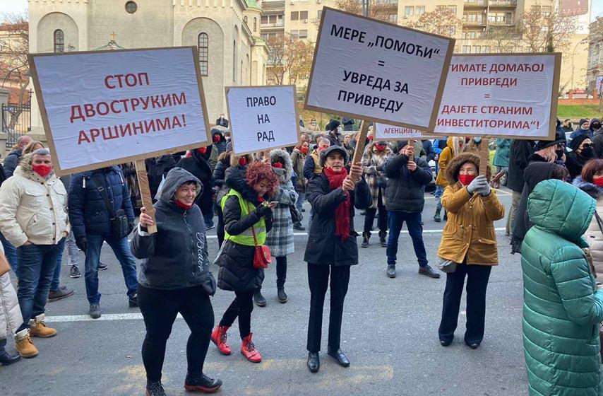protest, beograd, preduzetnici, protest preduzetnika u beogradu