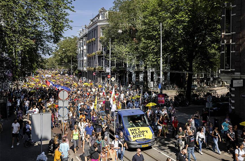 protest holandija, epidemioloske mere
