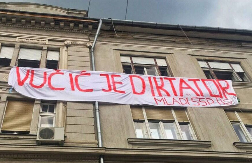 vucic je diktator, novi sad