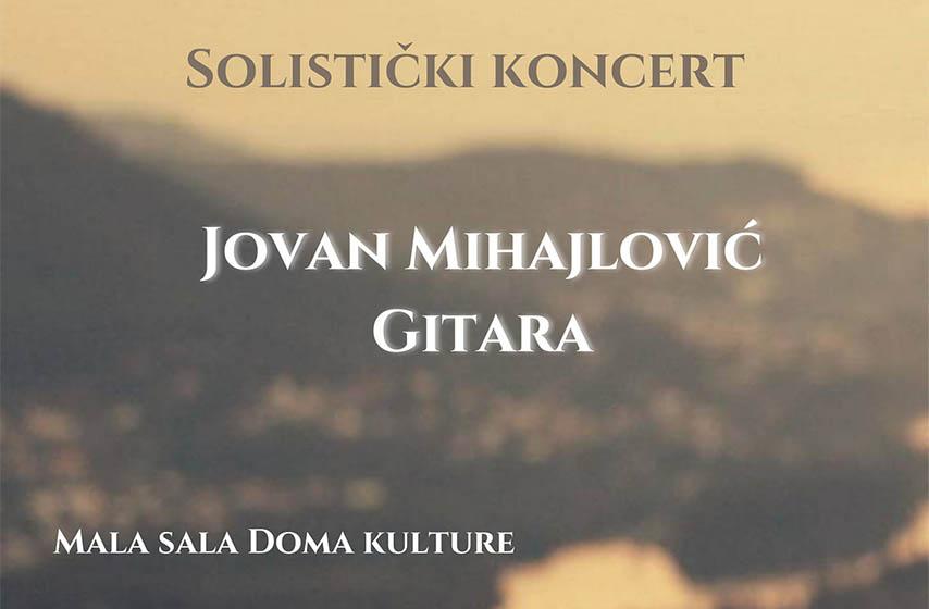 banatsko novo selo, dom kulture 3. oktobar, jovan mihajlovic, gitara, koncert klasicne muzike