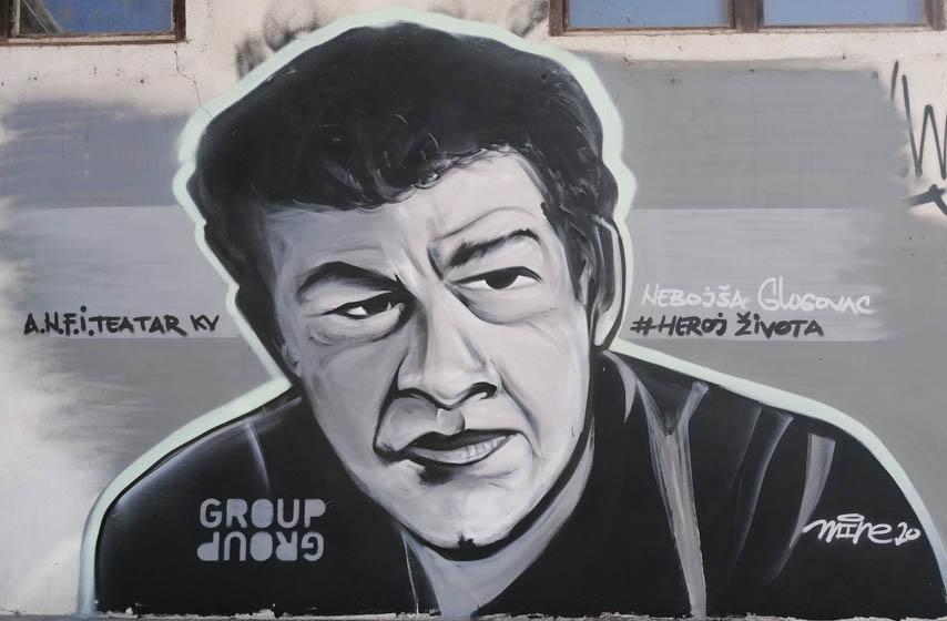 Mural Nebojše Glogovca u Kraljevu, Nebojša Glogovac, mural, kraljevo