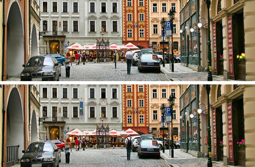 cia test, razlika na fotografijama