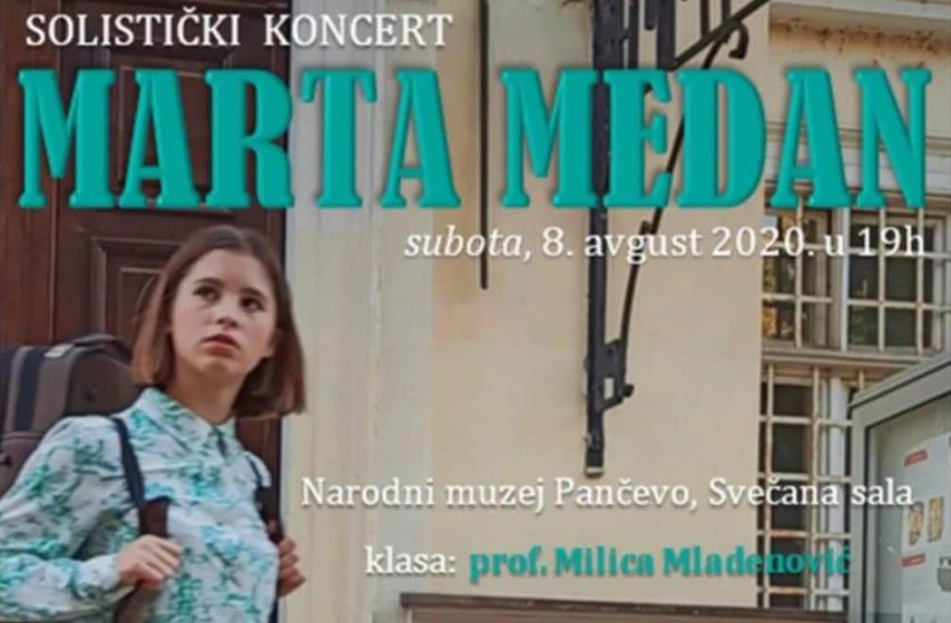 Marta Medan, Narodni muzej Pančevo, solistički koncert