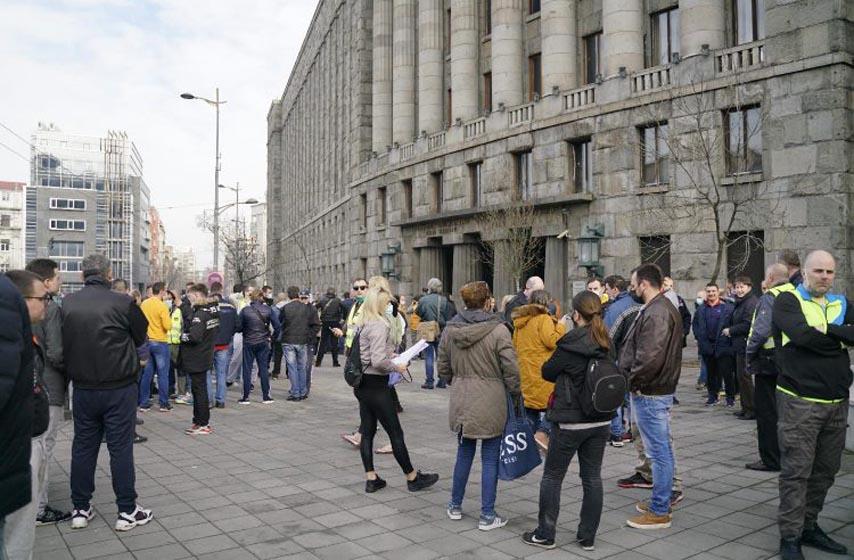 protest radnika poste