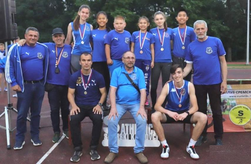 AK Panonija, atletika, medalje