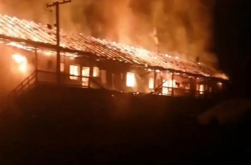 hronika, bač, požar, izgorela zgrada