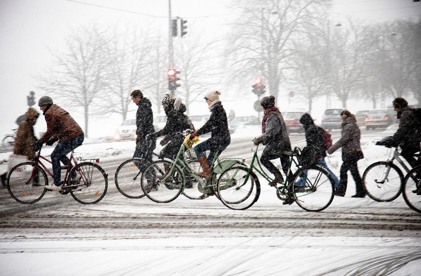 Kako pripremiti bicikl za zimu?, Saveti za vožnju bicikla zimi