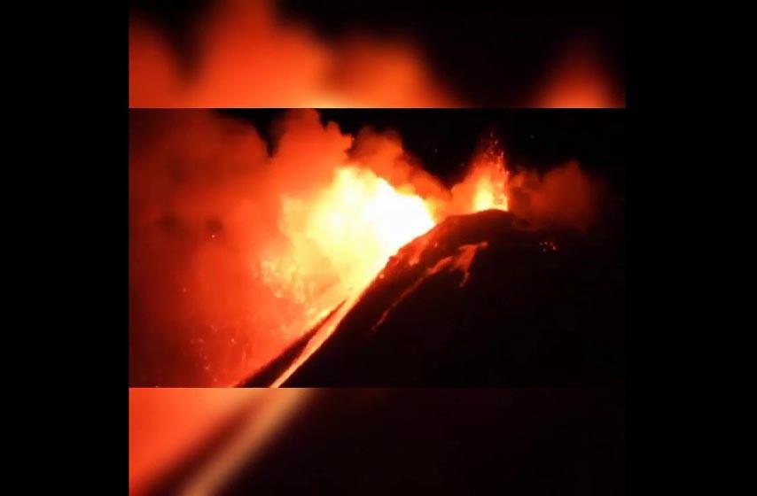 erupcija vulkana etna