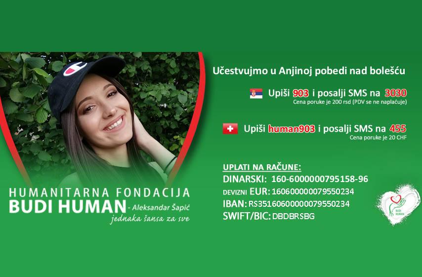 anja vujinović, humanitarne akcije
