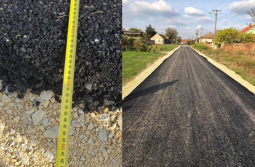 banatski brestovac, asfaltiranje, sirina puta