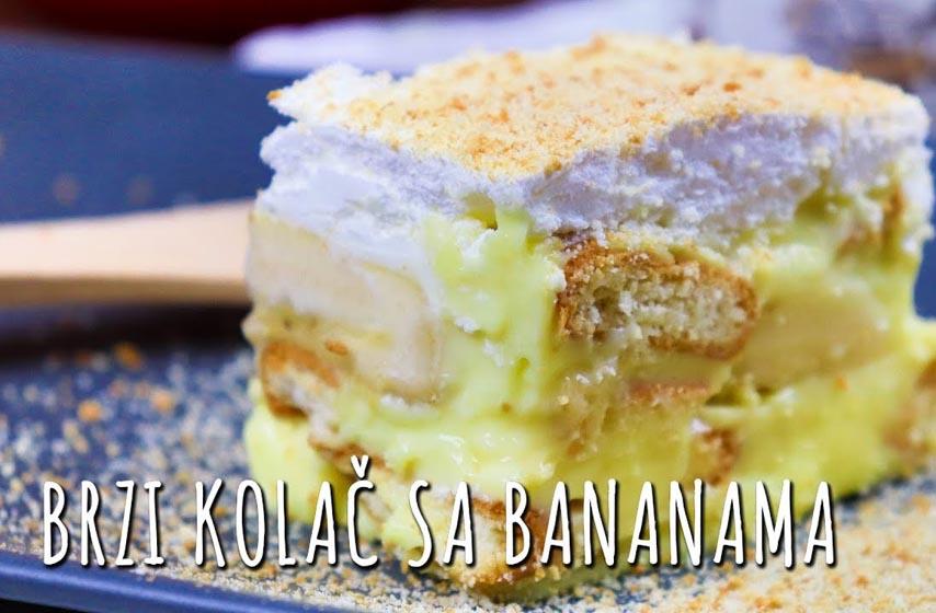 banana kolac, recept za banana kolac
