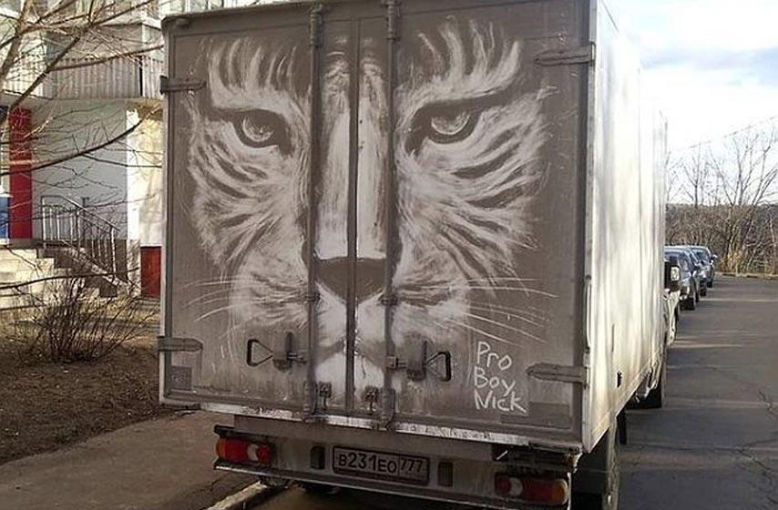 crtanje na kamionima