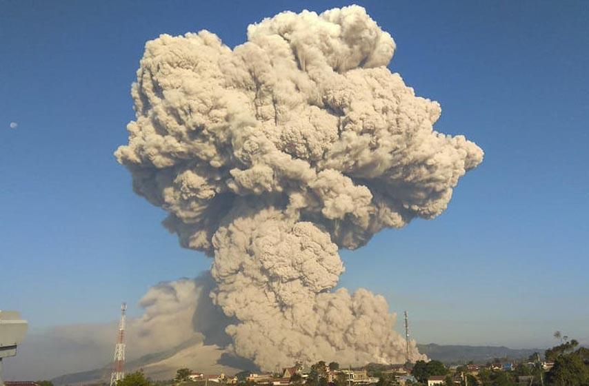 vulkan u indoneziji, erupcija vulkana