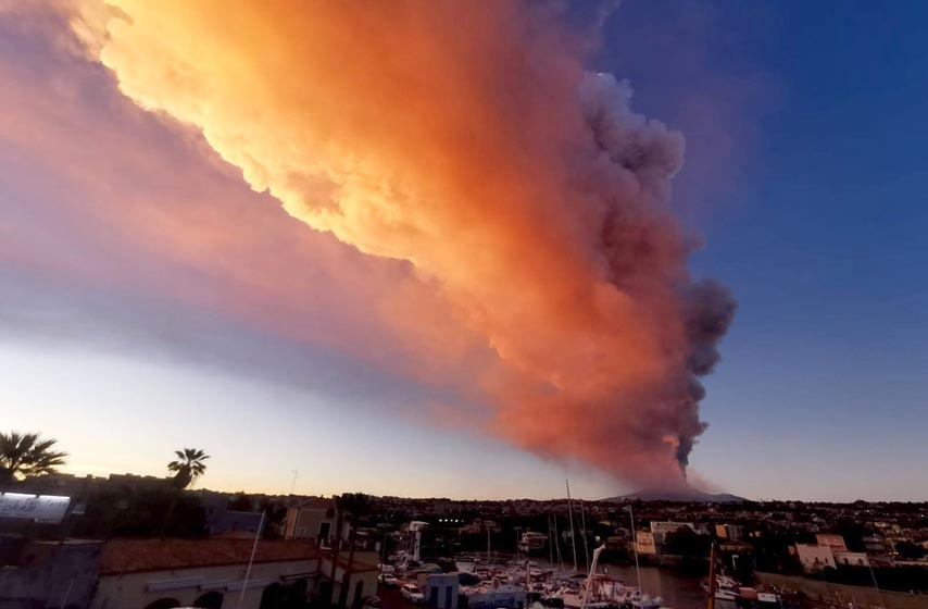 vulkan etna, erupcija vulkana etna