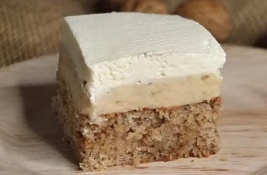 kolač sa orasima i pudingom, kolač,  recept, recepti