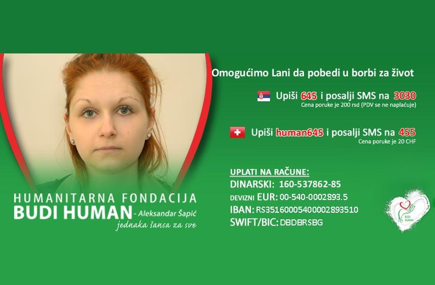 Lana Bulatović, Kovin, humanitarna akcija