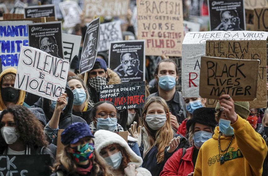 London, protest, protiv rasizma, svet, vesti iz sveta