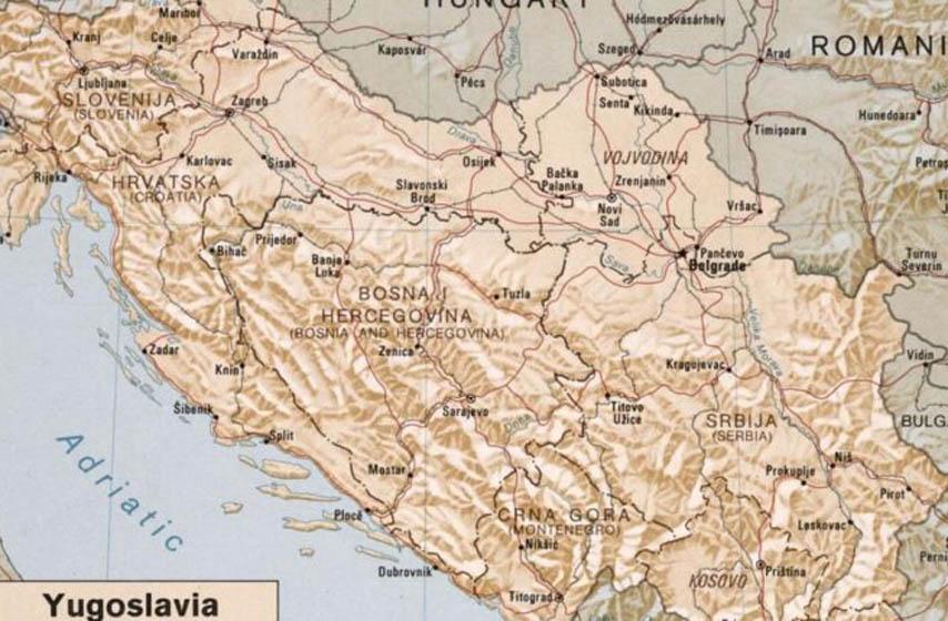 raspad jugoslavije, cia