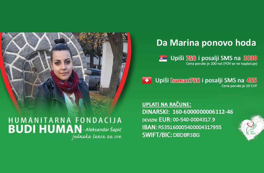 Mrina Minić, humanitarna akcija