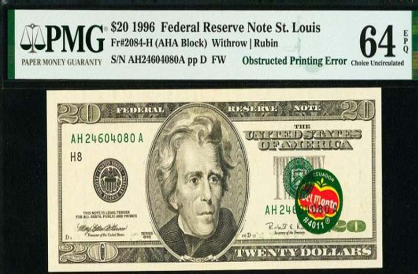 novcanica 20 dolara
