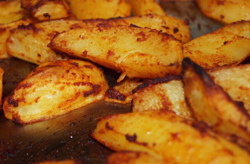 recept, peceni krompir