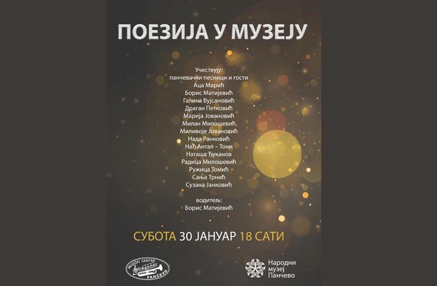 poezija u muzeju, narodni muzej pancevo, boris matijevic