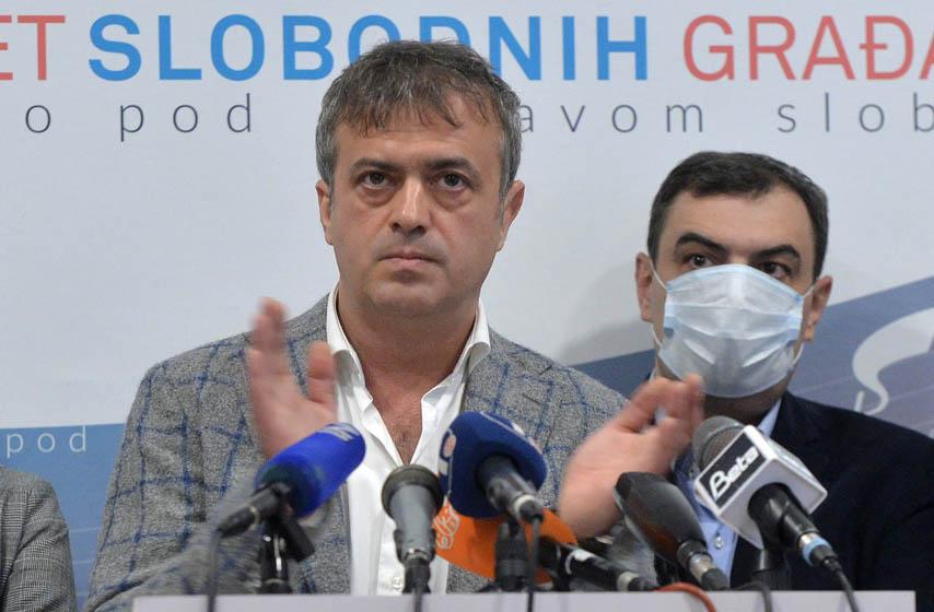 građani oterali Sergeja Trifunovića, protest ispred Skupštine