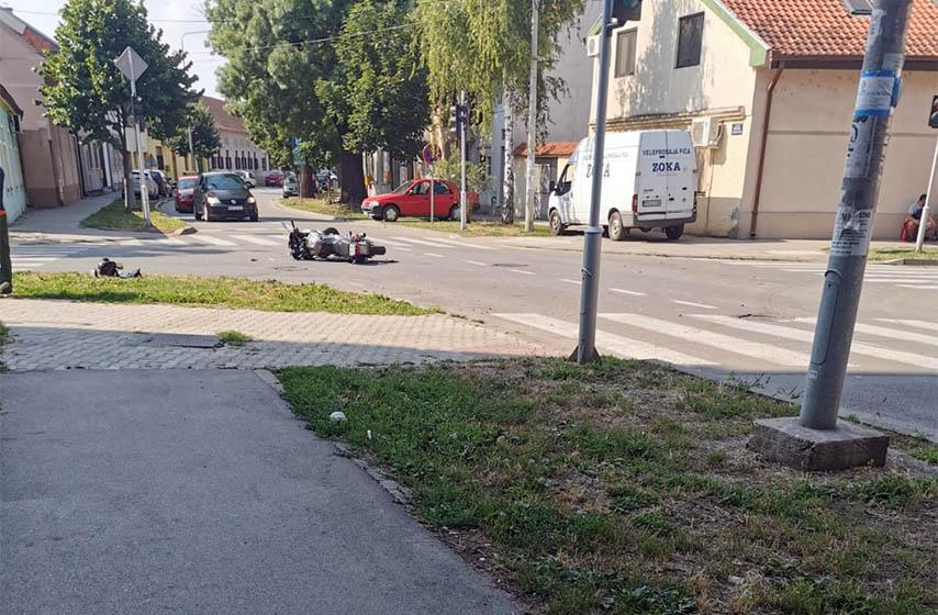 sudar, saobracajna nesreca, povredjen motociklista