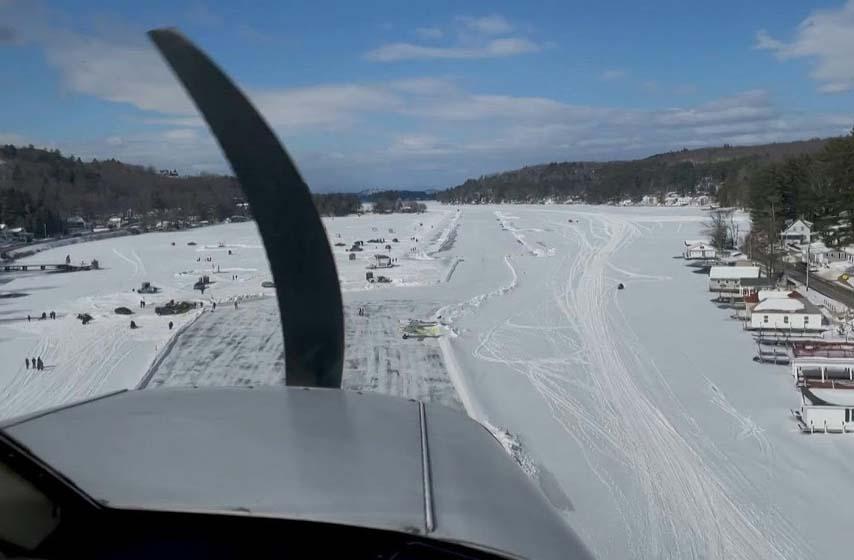 zaledjeno jezero, pista za sletanje aviona