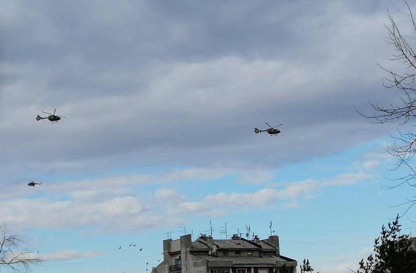 pancevo, specijalna brigada, helikopteri iznad panceva