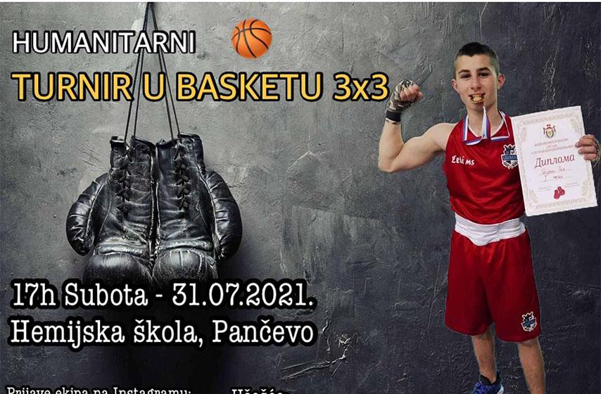 aca vojinov, humanitarni turnir, tehnicka skola 23 maj, hemijska skola pancevo, basket 3x3