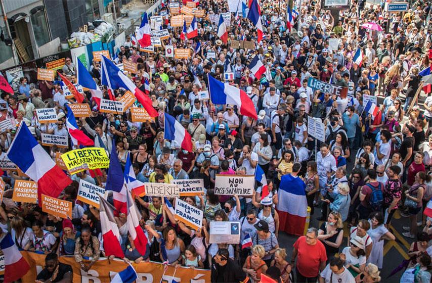 protesti francuska, kovid propusnice