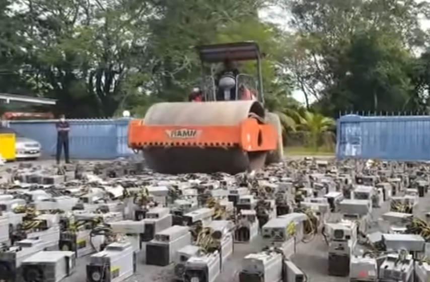policija malezije, oprema za rudarenje kripto valuta