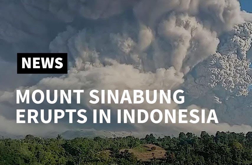 erupcija vulkana sinabung indonezija, vulkan sinabung