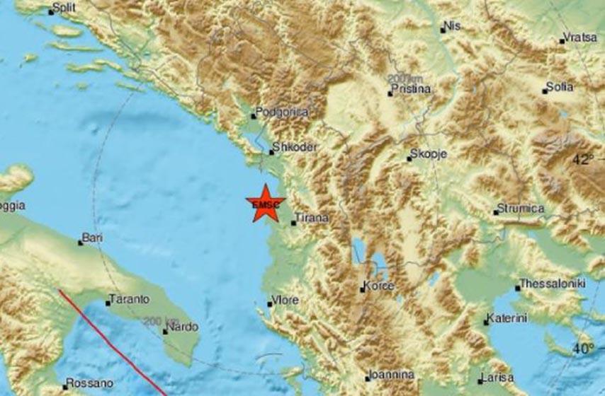 zemljotres,albanija, crna gora