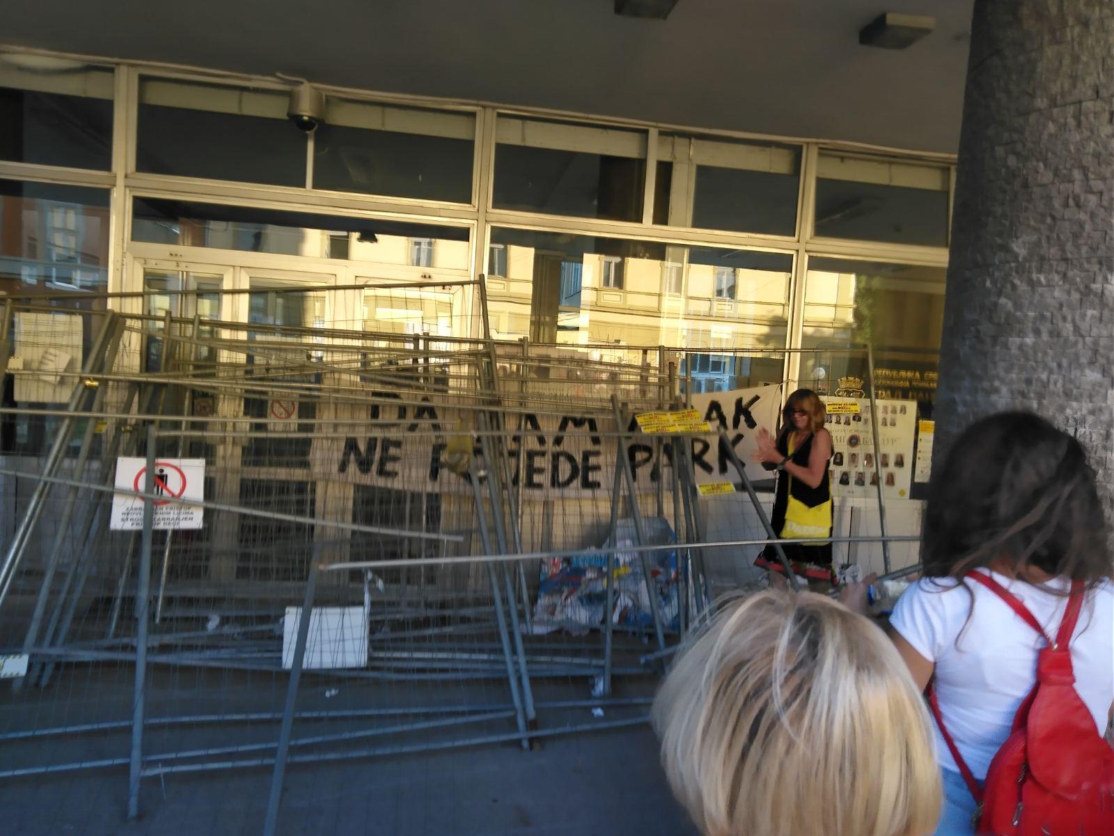 protest, gradska uprava, pančevo nije rupa, protiv seče drveća, pančevo, gradski park pančevo